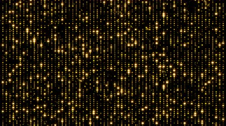fireworks : Abstract flickering gold background. 3d rendering particles. Seamless loop