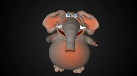 hallucination : Fun elephant cg animation. Seamless loop