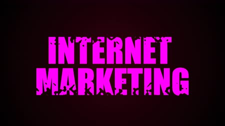 página da internet : Internet Marketing text. Liquid animation background. Seamless loop