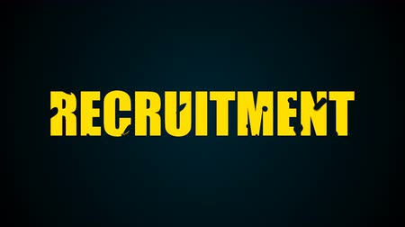 recrutamento : Recruitment text. Liquid animation background. Seamless loop