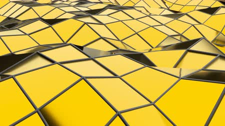 facets : Abstract seamless gold triangular crystalline background animation. Seamless loop