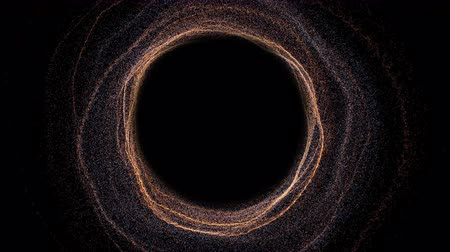 relativity : Futuristic black hole. Abstract space background. Digital 3d rendering backdrop