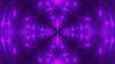 калейдоскоп : Abstract background with VJ Fractal violet kaleidoscopic. 3d rendering digital backdrop. 4k animation