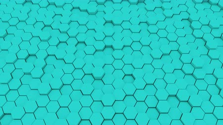 halftone : Abstract geometric hexagons, optical Illusion, computer generated 3D rendering backdrop.