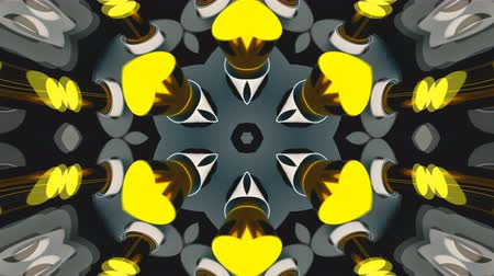 irradiar : Abstract symmetry bright kaleidoscope, 3d rendering backdrop, computer generating Stock Footage