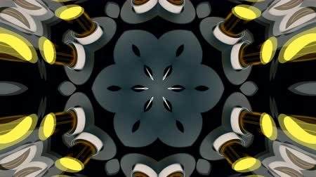 fraktály : Abstract symmetry bright kaleidoscope, 3d rendering backdrop, computer generating Dostupné videozáznamy