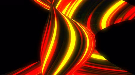 brilho intenso : Many twisting glow lines, abstract computer generated backdrop, 3D rendering Vídeos