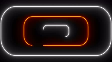 zaoblený : Many neon rounded rectangles in black space, abstract computer generated backdrop, 3D rendering Dostupné videozáznamy