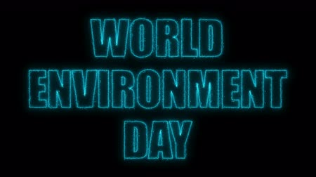 czcionki : World environment day text, 3d rendering background, computer generating, can be used for holidays festive design Wideo