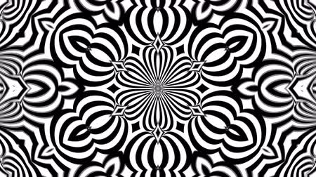 fraktály : Abstract symmetry black and white kaleidoscope, 3d rendering backdrop, computer generating