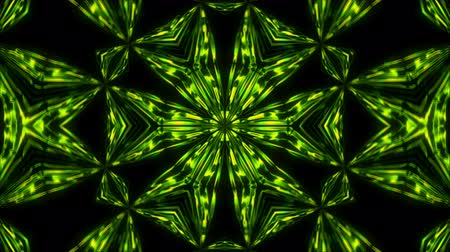 šest : Abstract symmetry kaleidoscope hexahedron, 3d rendering backdrop, computer generating