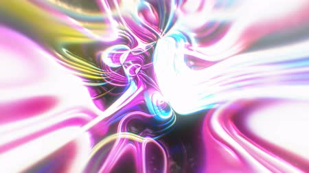 floş : Abstract glow energy background with visual illusion and wave effects, 3d rendering computer generating Stok Video