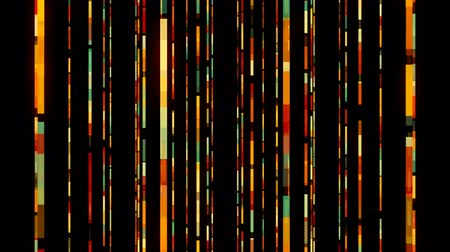 on line : Many different digital lines in space - modern abstraction, computer generated background, 3D rendering Vídeos
