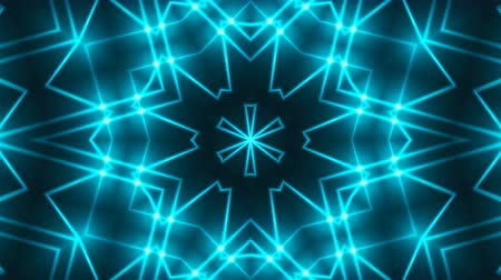 pino : Abstract symmetry kaleidoscope - fractal lights, 3d rendering backdrop, computer generating background Stock Footage