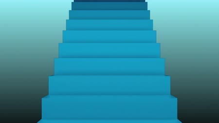 stair : Many stairs in space, 3d rendering backdrop with staircases, computer generated background
