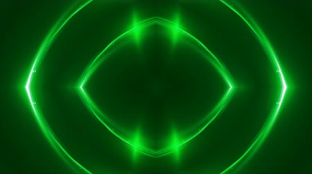 irradiar : Abstract green fractal lights, 3d rendering backdrop, computer generating background