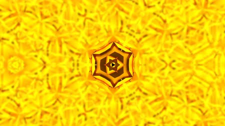 simetria : Abstract background with gold kaleidoscope. Seamless loop