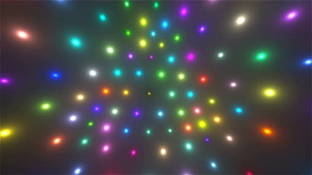 színárnyalat : Abstract flying glowing particles in space, computer generated abstract background, 3D rendering Stock mozgókép