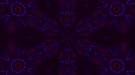 subject : Beautiful abstract symmetry kaleidoscope with shiny neon lines, 3d rendering backdrop, computer generating background Stock Footage