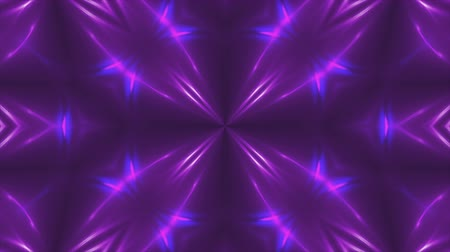 irradiar : Abstract violet fractal lights, 3d rendering backdrop, computer generating background Stock Footage