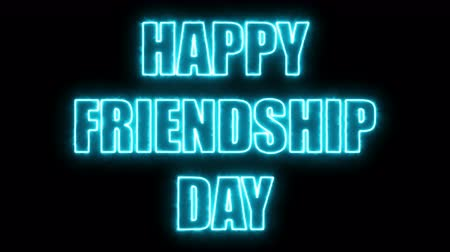 eternal : Burning letters of Happy friendship day text, 3d rendering background, computer generating for holidays festive design