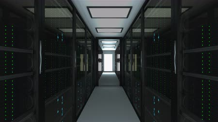 ellátó : Modern server room interior in datacenter, web network and internet telecommunication technology, big data storage and cloud service concept, 3d rendering