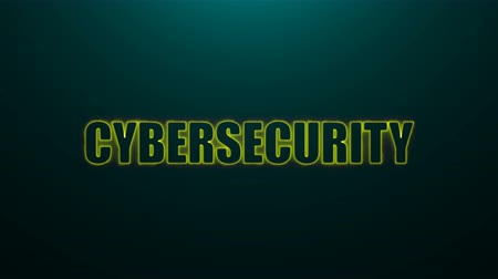 klipart : Letters of Cybersecurity text on background with top light, 3d rendering background, computer generating for business