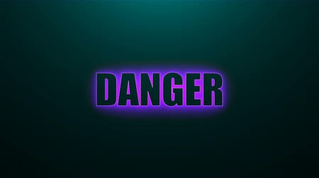 peril : Letters of Danger text on background with top light, 3d rendering background, computer generating