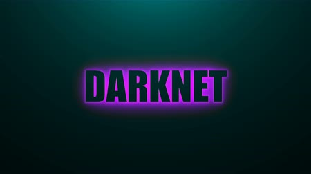 darknet : Letters of Darknet text on background with top light, 3d rendering background, computer generating