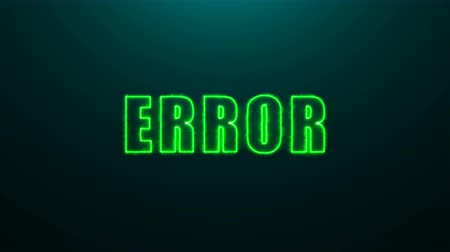 arıza : Letters of Error text on background with top light, 3d rendering background, computer generating for gaming Stok Video