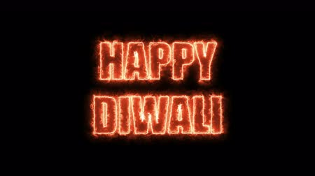 conventional : Burning letters of Happy Diwali text, 3d rendering background, computer generating for holidays festive design