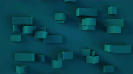 quadrate : 3d rendering background with rectangular shapes with different sizes of elements, computer generated Stock Footage