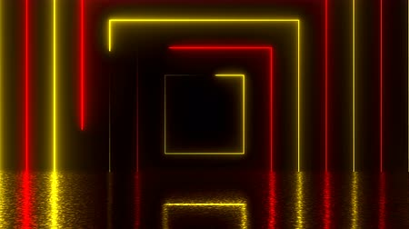 pravidelný : Abstract square neon tunnel with reflection, computer generated background, 3D render background Dostupné videozáznamy