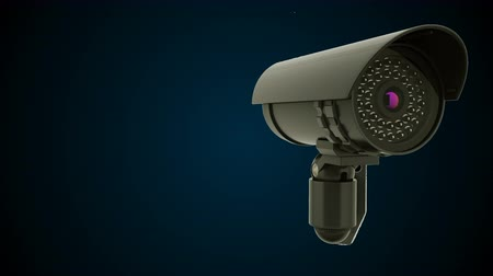 sigilo : Modern rotating CCTV security camera, 3D rendering background, computer generated Stock Footage