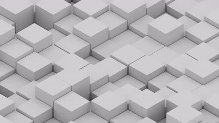 halftone : Many abstract isometric cubes, modern computer generated 3D rendering background