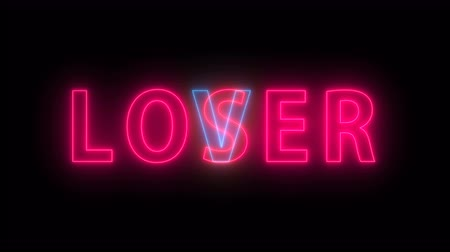 perdedor : Bright text Loser Lover - element for creative design, 3d rendering backdrop, computer generated