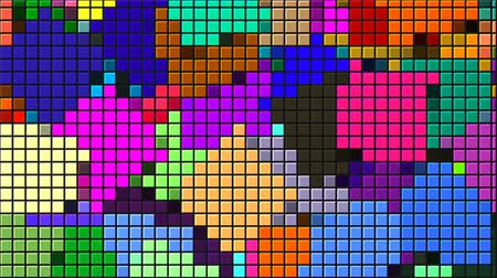 négyszögletes : Beautiful bright mosaic with square particles, this is computer generated abstract digital technology background, 3d rendering backdrop