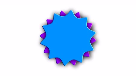 çıkartmalar : Abstract sticker with two gears on white, 3d rendering computer generated background