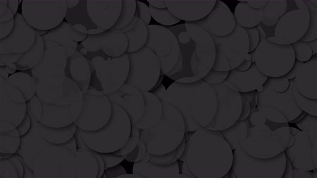 színárnyalat : Many black chaotic round particles, computer generated abstract background, 3D rendering background Stock mozgókép