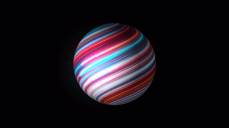 штифт : Sphere with surface with neon effect are in space , modern abstract 3d rendering backdrop