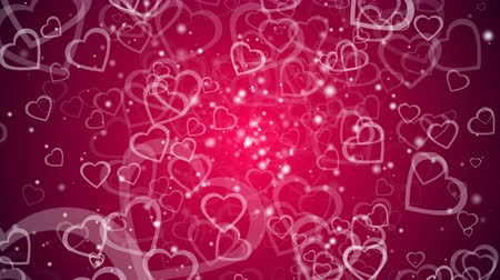 pino : Abstract background with many hearts, 3d rendering computer generated backdrop for Valentine day Stock Footage