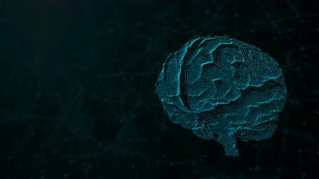 neuro : 3d illustration of digital brain on futuristic background, concept of artificial intelligence and possibilities of mind, computer rendering backdrop