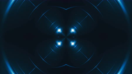 yaymak : Abstract blue fractal lights with neon effect, 3d rendering backdrop, computer generating background Stok Video