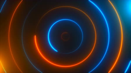 parafusos : Abstract spiral neon circles, computer generated background, 3D rendering background