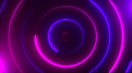 elipse : Abstract spiral neon circles, computer generated background, 3D rendering background