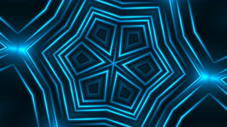 винты : Abstract blue fractal lights, 3d rendering backdrop, computer generating background