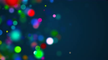 raso : Beautiful multi-colored celebratory particles are in space, shallow depth of field, bokeh effect, computer generated abstract background, 3D render