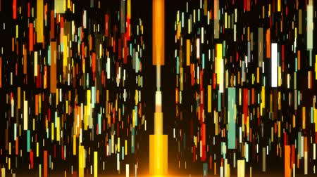 vertical stripes : Abstract vertical colored stripes are in space - abstraction of data communication, computer generated background, 3D rendering Stock Footage