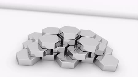 пьедестал : Metal honeycomb pedestal is on surface, creative for business, 3d rendering background, computer generated