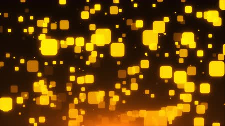 pravidelný : Many gold glittering squares are in space, holiday 3d rendering background, golden explosion of confetti